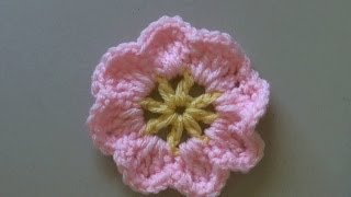 How to crochet a flower tutorial / Easy primrose flower - (También en español) - Yolanda Soto lopez