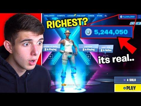 "He ""bought"" 5,000,000 V BUCKS on his Fortnite Account.."