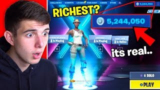 "He ""bought"" 5,000,000 V BUCKS on his Fortnite Account.."