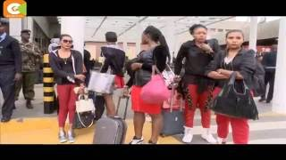Koffi Olomide caught on camera kicking a woman at JKIA