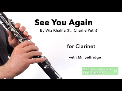 See You Again (Wiz Khalifa feat. Charlie Puth) for CLARINET