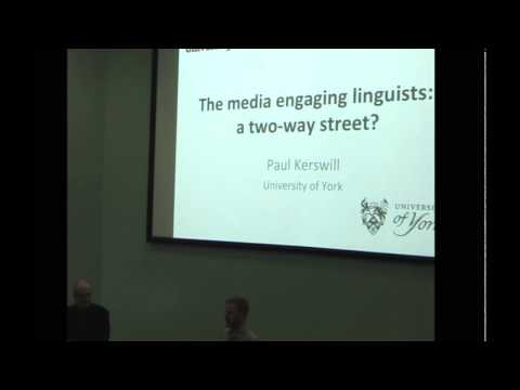 The media engaging linguists: a two-way street? ( Sheffield Hallam University, 22 February 2016)