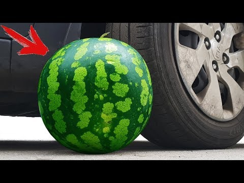 Experiment: Car Vs Watermelon