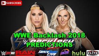 WWE Backlash 2018 SmackDown Women's Championship Carmella vs Charlotte Flair Predictions WWE 2K18