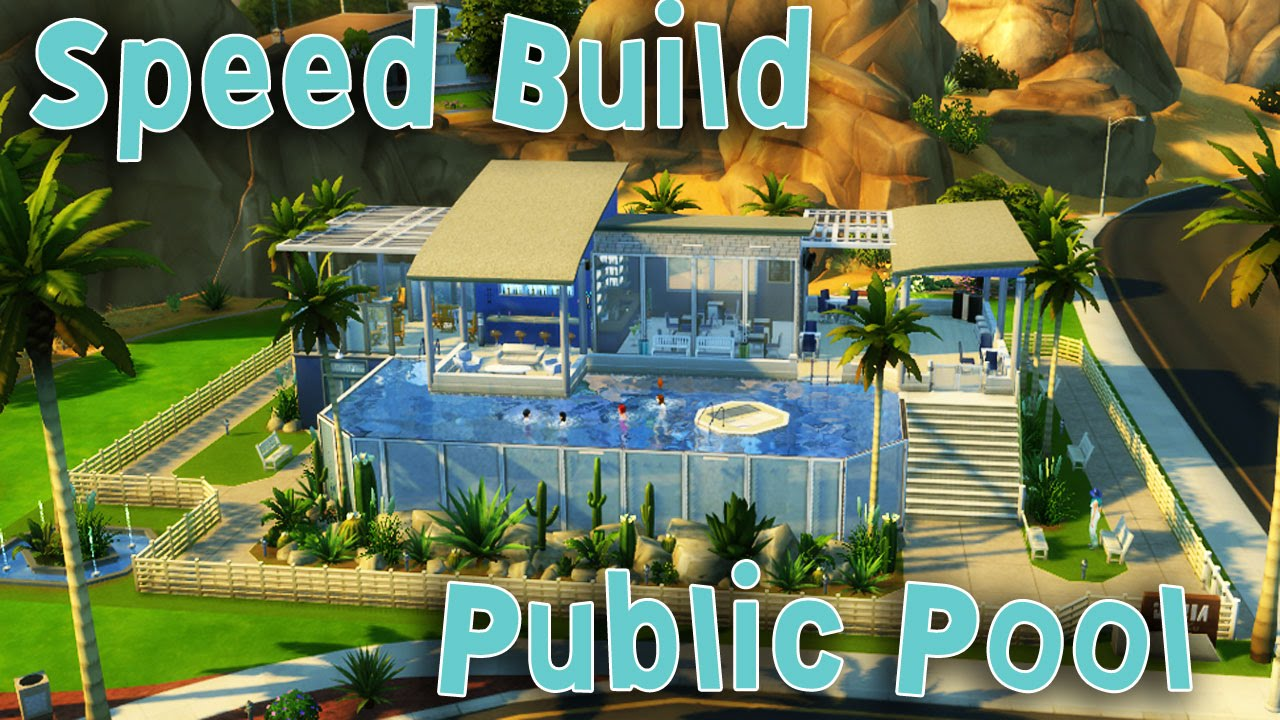Sims 4 speed build public pool youtube for Pool design sims 4