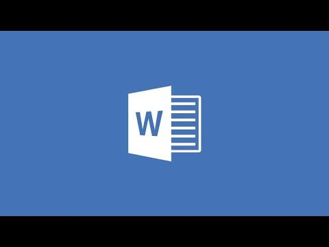 Insert A Cover Page In Word Document - YouTube