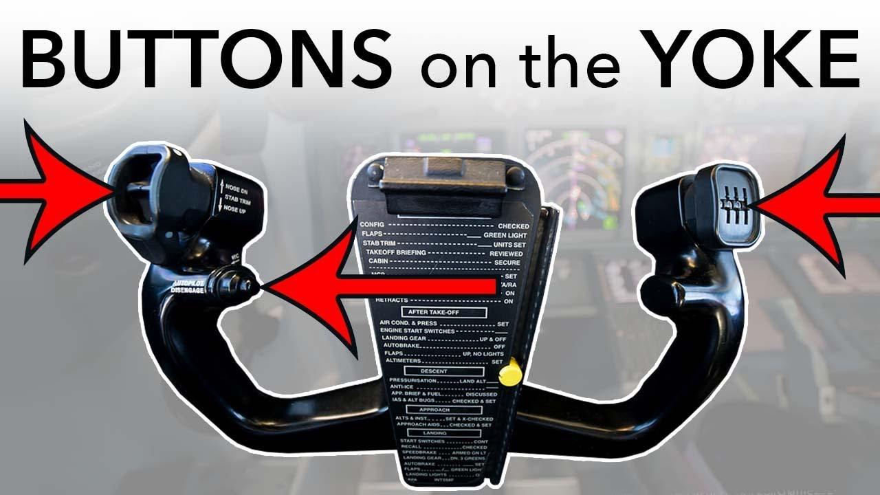 Aircraft YOKE (Steering wheel), how does it work?