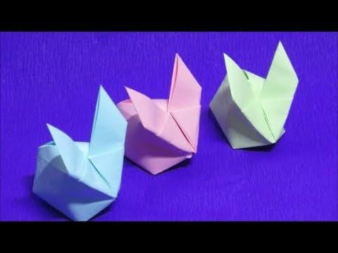 origami inflatable bunny | konijn/haas vouwen (korte versie) - youtube