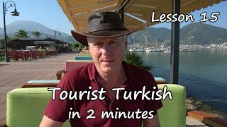 Turkish in 2 minutes   Lesson 15