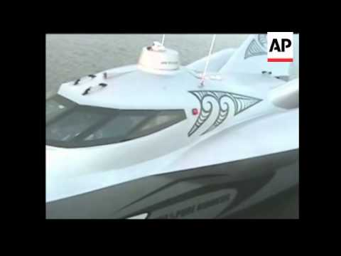 Powerboat collides on  round the world speed record attempt