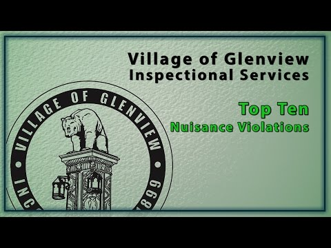Top Ten Nuisance Violations