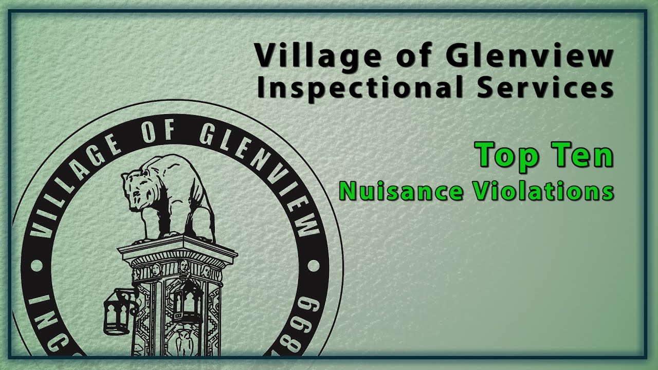 Village of Glenview | Residents Code Enforcement & Property