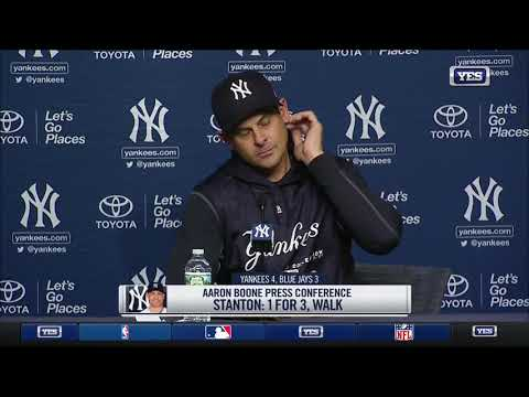Aaron Boone on the Yankees 4-3 win over the Blue Jays