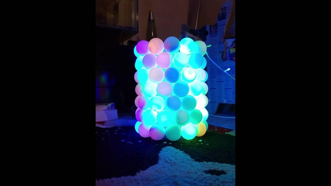 My ping pong ball lamp