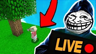 TROLLING YOUTUBER WHILE HE IS LIVE STREAMING (Minecraft Trolling)