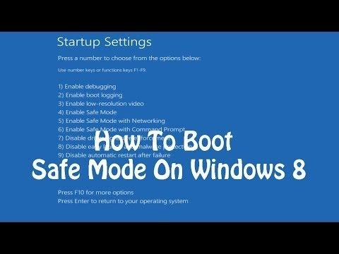 How To Boot Into Safe Mode On Windows 8 or 8.1 (The Easy Way) - YouTube