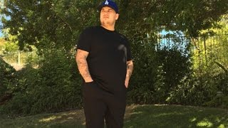 Rob Kardashian Shows off Impressive Weight Loss
