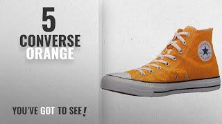 Top 5 Converse Orange [2018]: Converse Chuck Taylor All Star Seasonal Canvas High Top Sneaker,