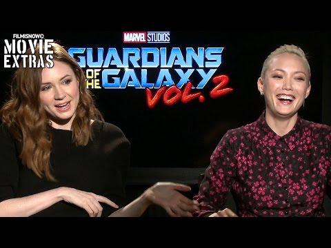 Guardians of the Galaxy Vol. 2 2017 Karen Gillan & Pom Klementieff talk about the movie