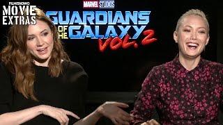 Guardians of the Galaxy Vol. 2 (2017) Karen Gillan & Pom Klementieff talk about the movie