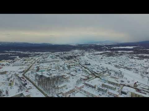 Сахалинская область. Долинск с высоты 200 м.