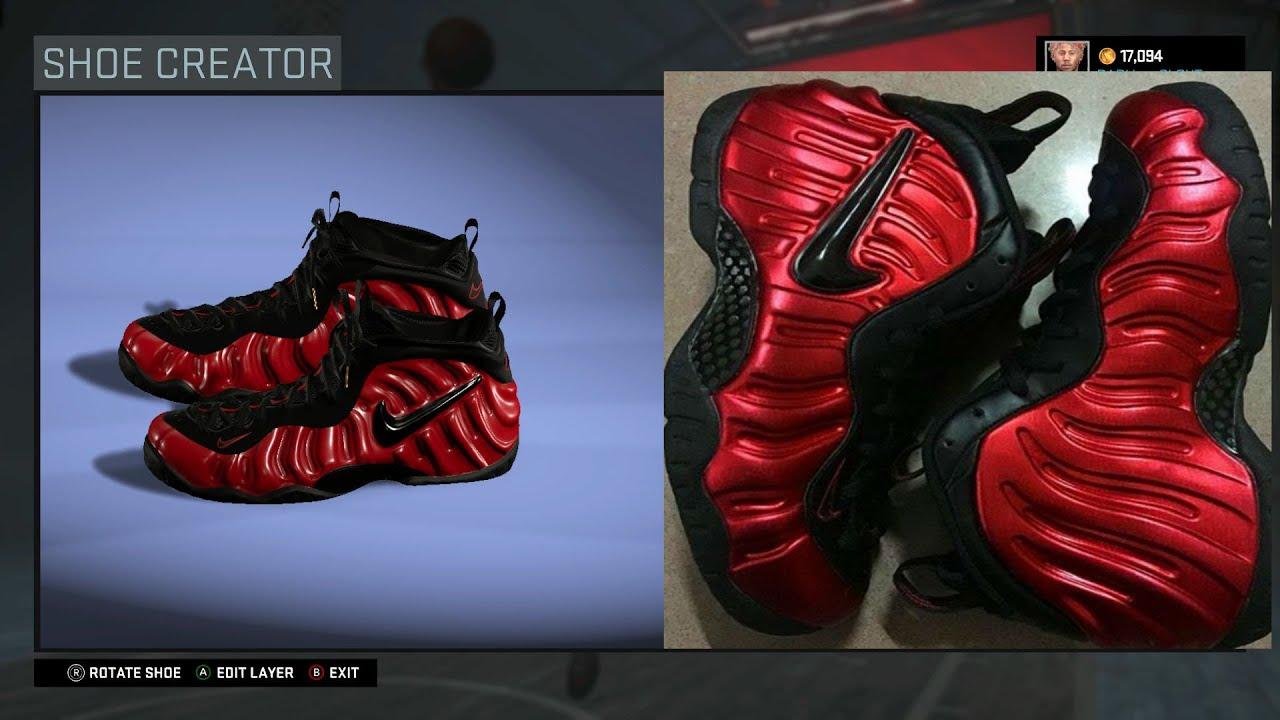 cca8cf5ceb1 ... sale nba 2k16 shoe creator nike foamposite pro black red youtube 32e4c  5f6ae