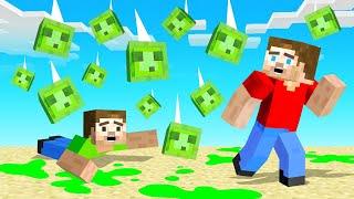 Minecraft BUT It's RAINING JELLY SLIMES!
