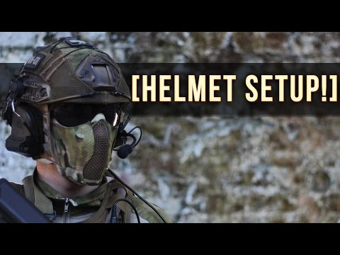 AIRSOFT HELMET SETUP! | FACE PROTECTION + GO PRO!