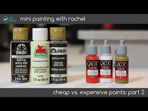 Mini Painting: Cheap vs Expensive Paints PART 2. Which ones will win?
