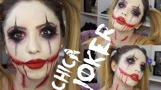 Chica JOKER/Halloween maquillaje