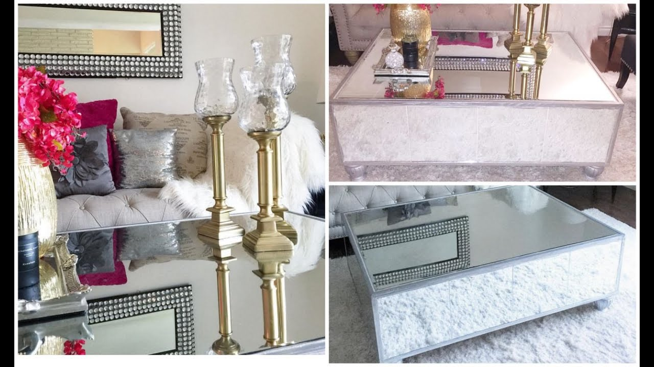 Diy mirrored coffee table haz tu mesa de espejo youtube - Espejos de mesa baratos ...