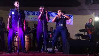 GHANA POLICE BAND BE TOO MUCH! WATCH HOW THEY PLAY AND KILL GH MUSICS