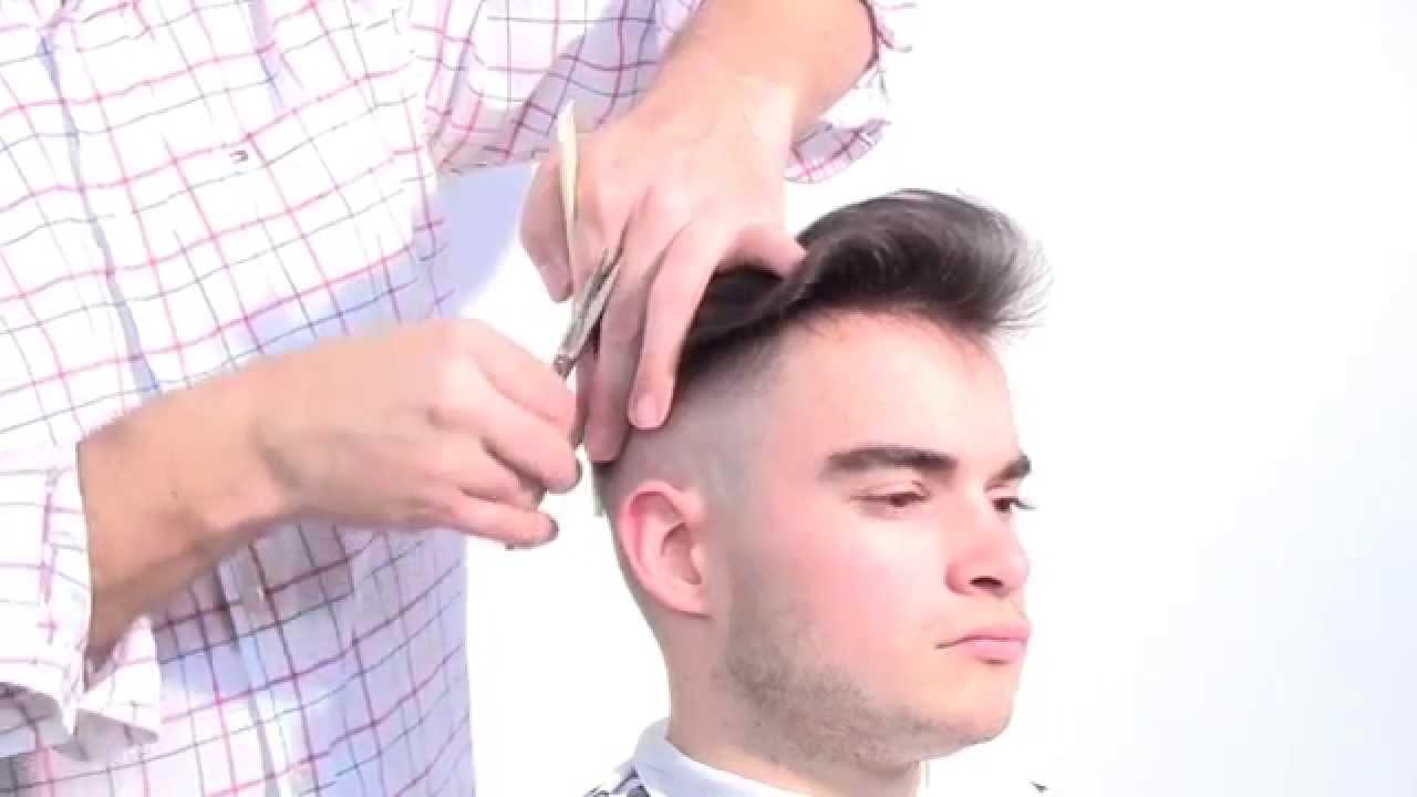 Skin fade pompadour publicité tendance coiffure pour homme 2015 , YouTube