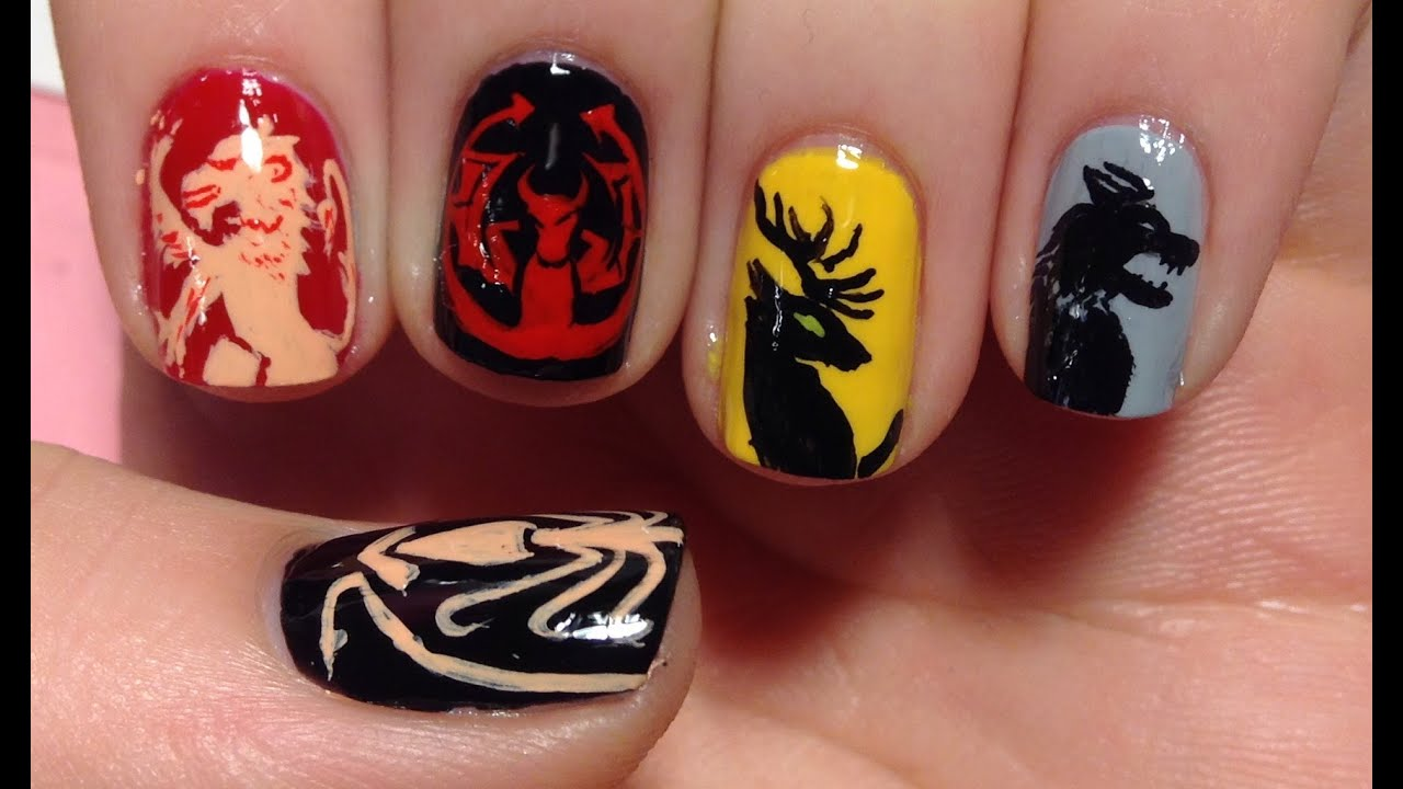 Game of Thrones Nail Art Tutorial (REQUEST) - YouTube