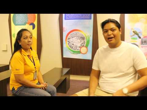 Interview with staff in Quezon Memorial Shrine