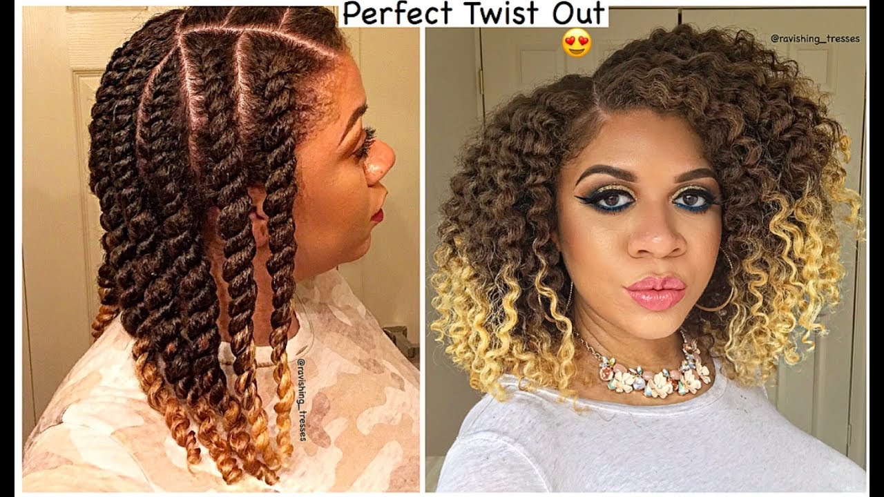 How To Get A Perfect Twist Out Every Time Natural Hair Youtube