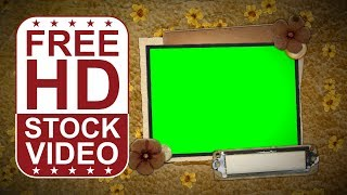 FREE HD video backgrounds – animated photo album picture frames retro style with green screen