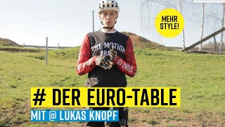 MTB-Fahrtechnik: Der Euro-Table mit Lukas Knopf