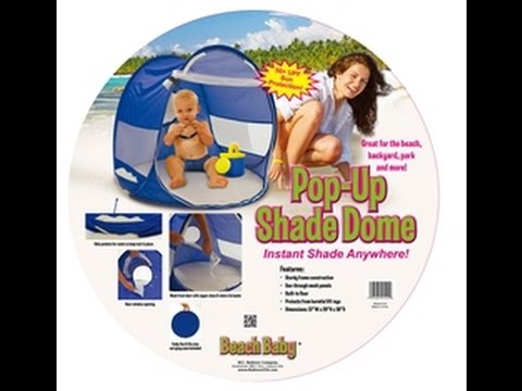Beach Baby Shade Dome Folding Instructions