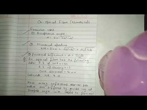 B.tech Engineering Physics Optical Fibre|| Important Numericals and concepts