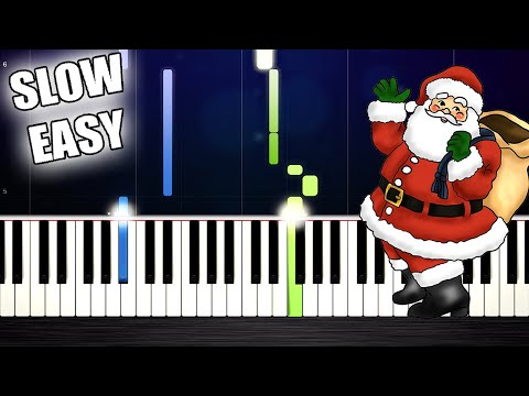 Santa Claus Is Coming To Town - SLOW EASY Piano Tutorial by PlutaX