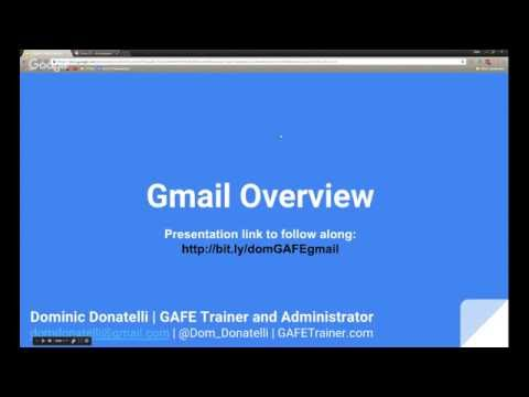 Gmail Tutorial - Google Apps for Education Training Video