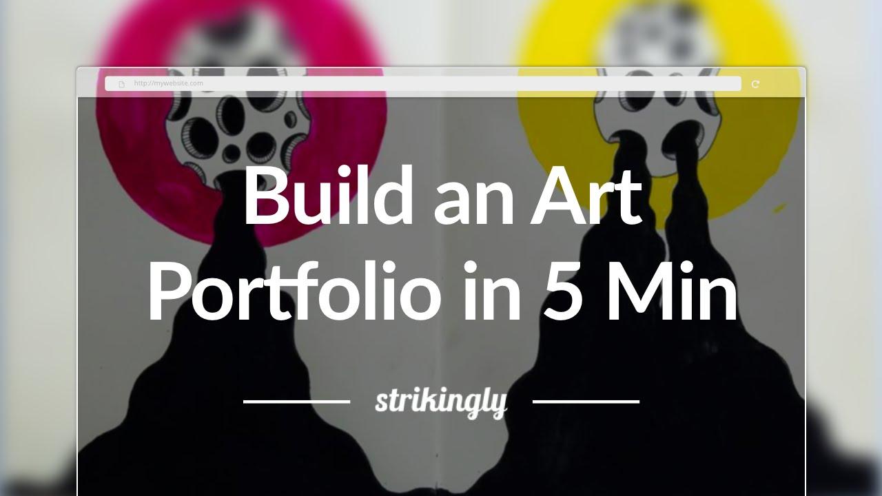 how to build an art portfolio