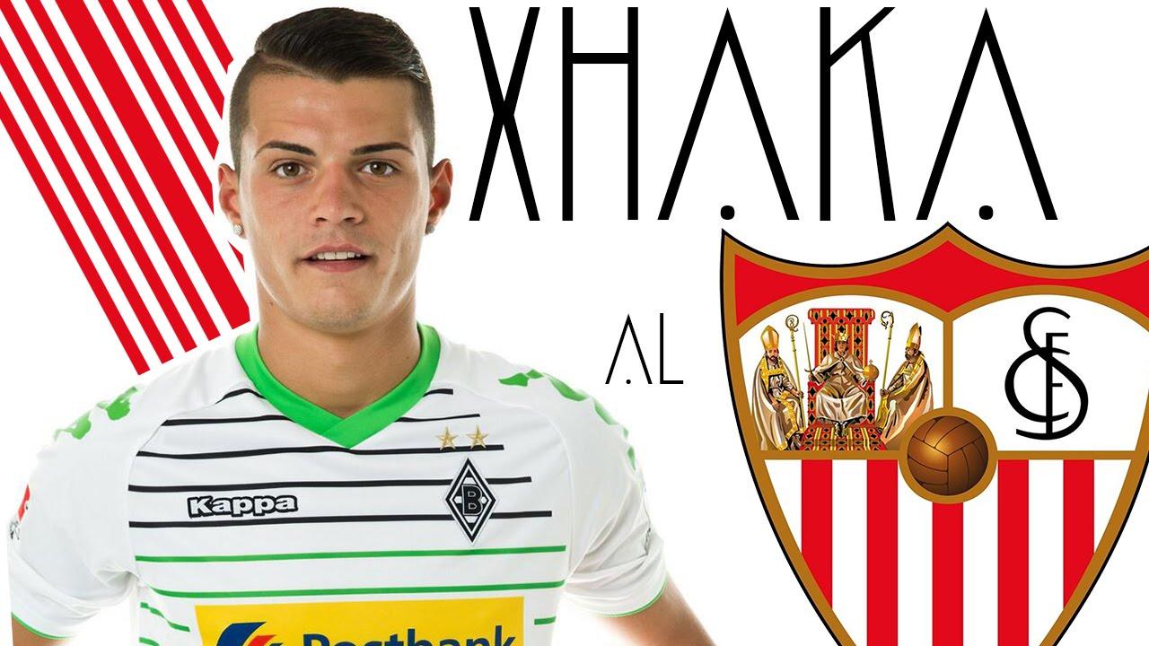 Granit Xhaka - Fichajes para el Sevilla FC temporada 2015/2016 - YouTube