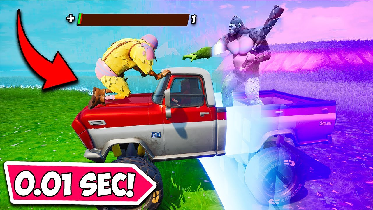 *0.01 SECOND* LUCKIEST STORM ESCAPE EVER!! - Fortnite Funny Moments! 1269