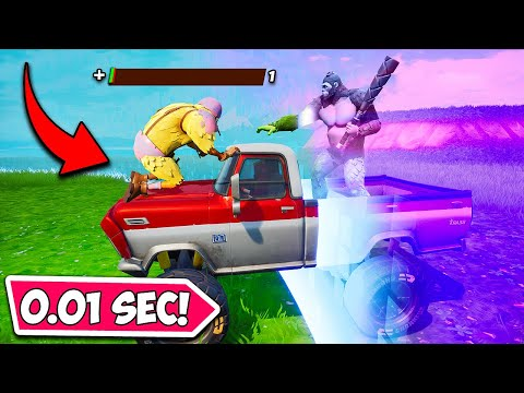 *0.001 SECOND* LUCKIEST STORM ESCAPE!! - Fortnite Funny Moments! 1269