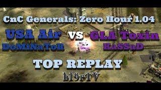 Command & Conquer: Generals Zero Hour - USA Air vs GLA Toxin - TOP REPLAY