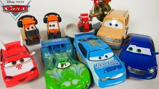 DISNEY PIXAR CARS NEW CHARACTERS AND DELUXE CARS 2 VIEWZEEN AIRPORT PITTIES
