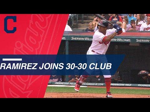 Jose Ramirez joins exclusive 30-30 club in 2018