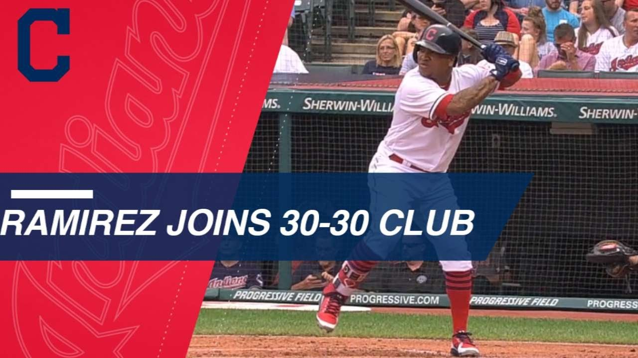 Jose Ramirez joins exclusive 30-30 club in 2018